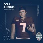 """Cole Andrus Built Ford Tough """"Player of the Week"""" for 3A"""