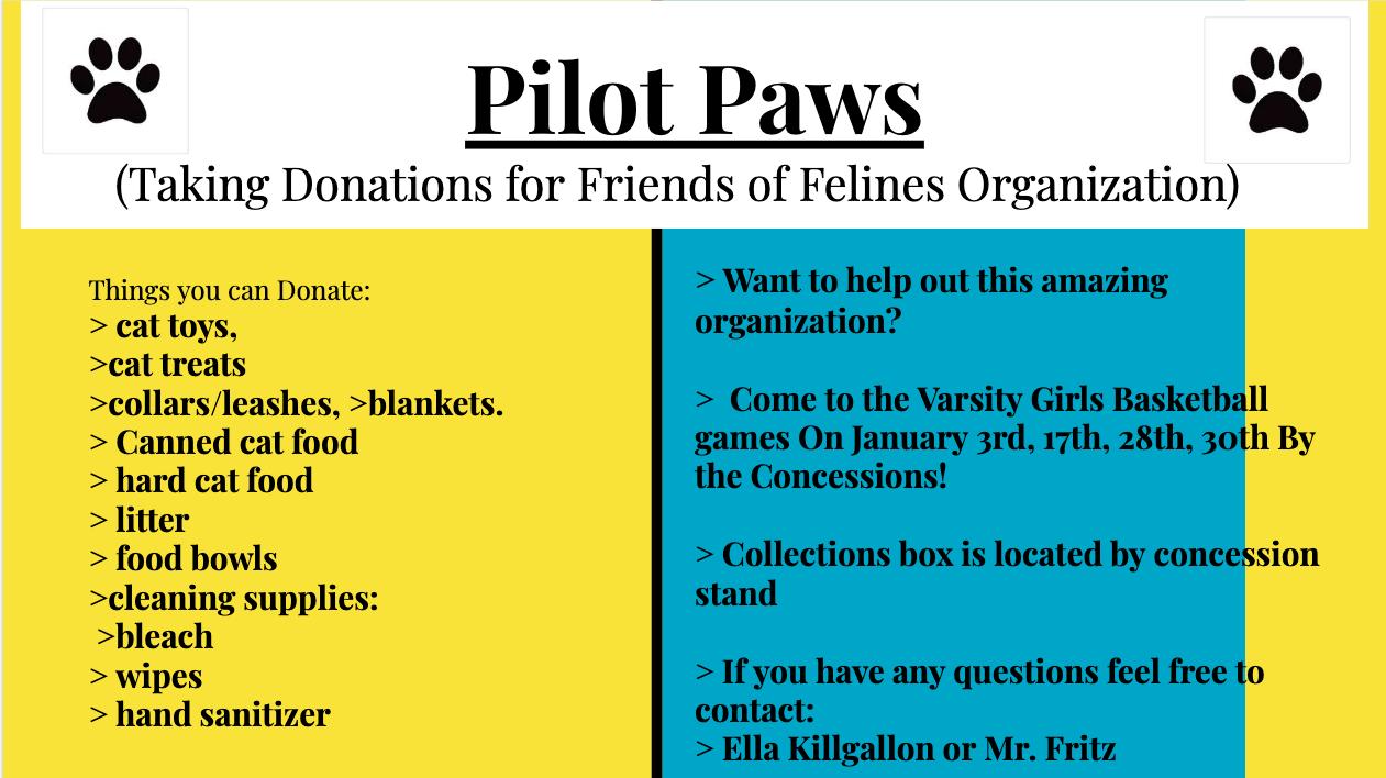 Pilot Paws Donations