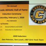 Athletics Hall of Fame – 2020