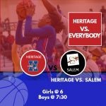 Heritage Takes on Cross Town Rival, Salem Tonight at 6 and 7:30