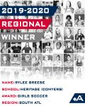 Positive Athlete 2020 Regional Winner RYLEE BREESE