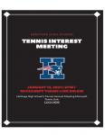 Tennis Interest Meeting