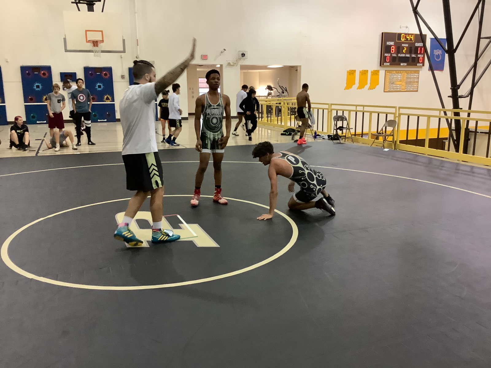 Wrestlers Prepare for the Season with 2020 Wrestle-Offs