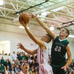 North Hills Senior High School Boys Varsity Basketball falls to Pine-Richland High School 65-63