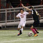 North Hills High School Boys Varsity Soccer falls to Knoch High School 2-1