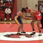 Boys Middle School Wrestling beats Hampton 48 – 34