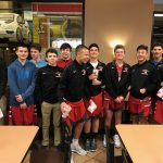 Freshman Boys Basketball Team at Chick Fil A