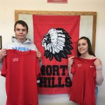 Neil and Sydney pose for Athlete of the Month
