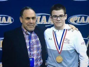 Sam with Coach Martinez
