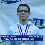 Sam with 1st place medal
