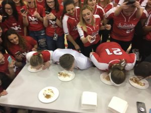 Table 1 of pie eating contest