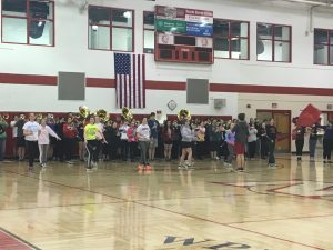 Band performs at Spring pep rally