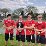 4 Boys' Tennis Players