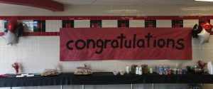 Congratulations table