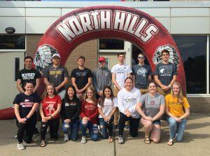 College Bound Athletes under arch