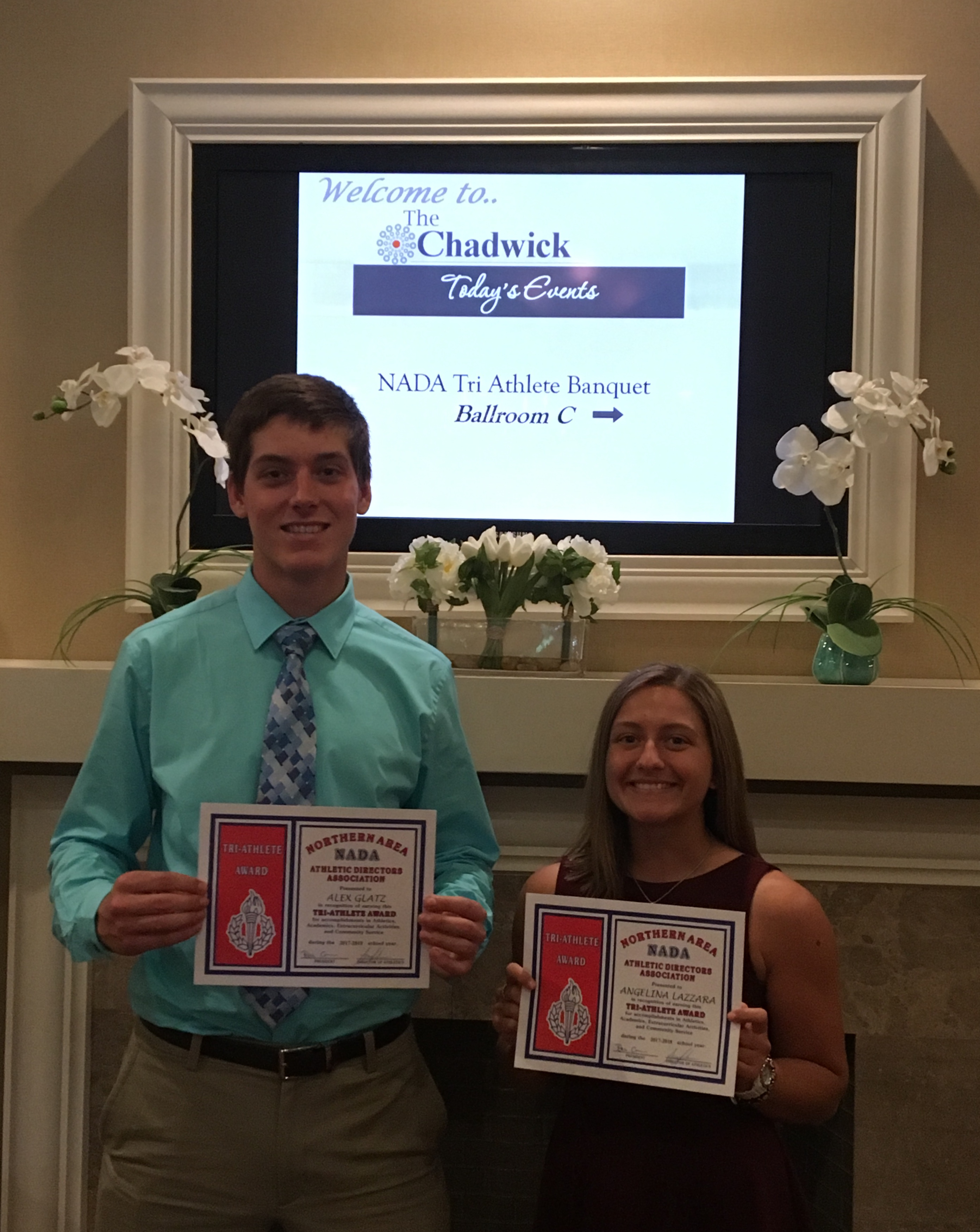 Congratulations Alex and Ang on NADA Tri-Athlete Award!