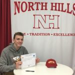 Congratulations to Jeff Behr who will continue football at Seton Hill University!