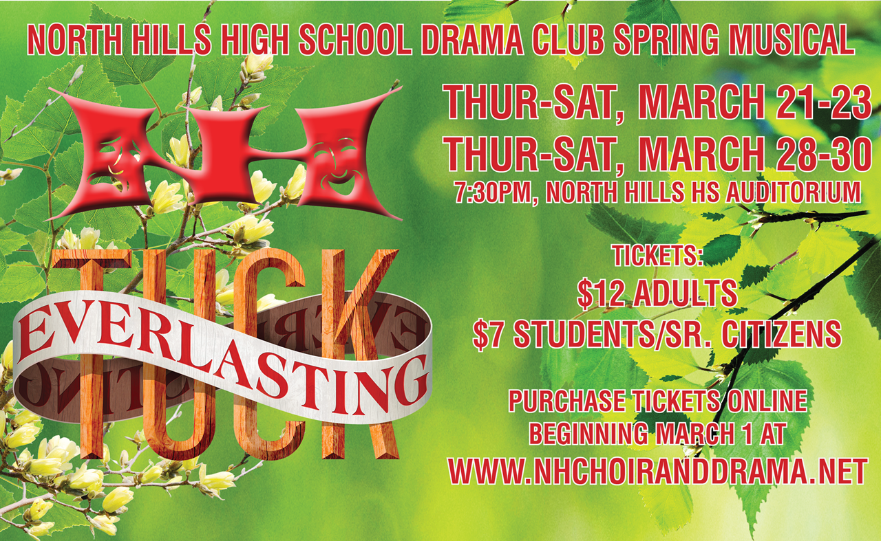 "NH Spring Musical ""TUCK EVERLASTING""  March 21/22/23 & March 28/29/30"