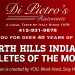Vote for November's Athletes of the Month! Sponsored by Di Pietro's Ristaurante!