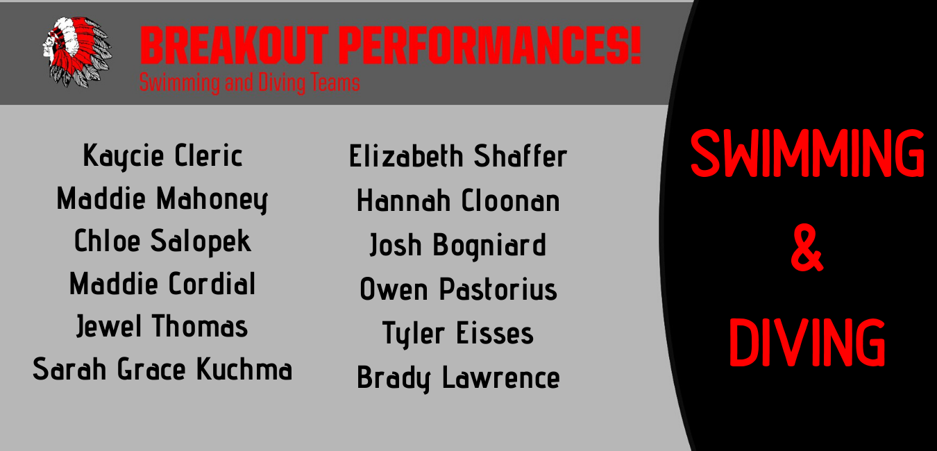 Breakout Performances for Swimming and Diving Team!