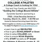 """Guiding the College-Bound Athlete"" Online Seminar"