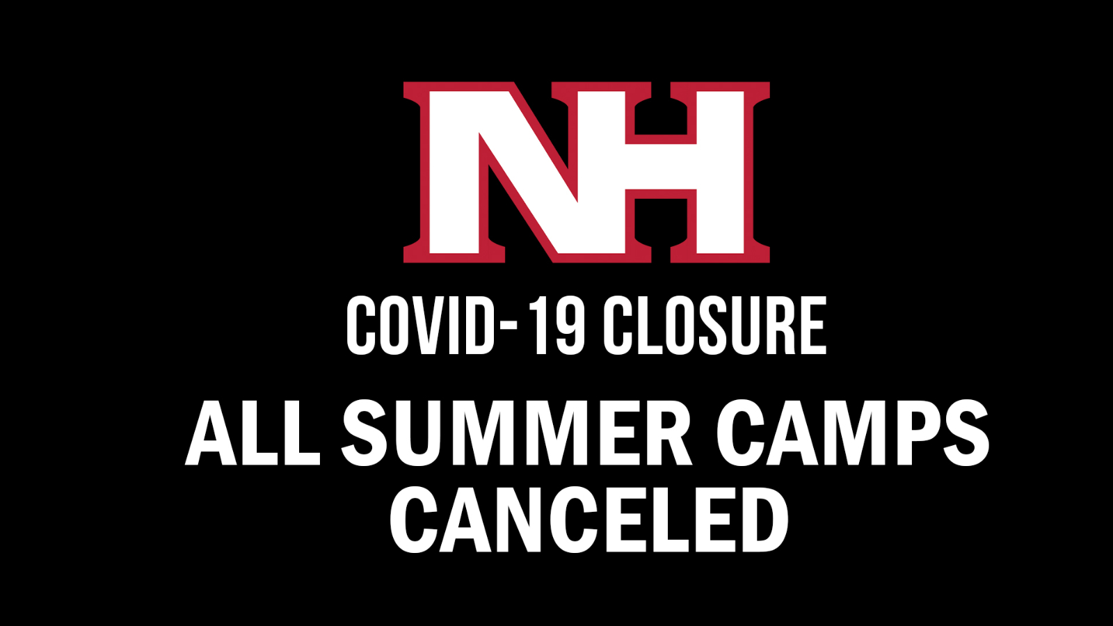 ALL summer camps held by outside organizations canceled