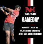 Varsity Baseball Wins Home Opener – Takes on Pittsburgh Central Catholic Today
