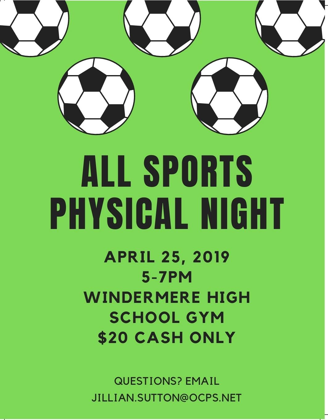 Physical Night April 25th 5PM-7PM