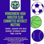 Booster Committee Interest Meeting