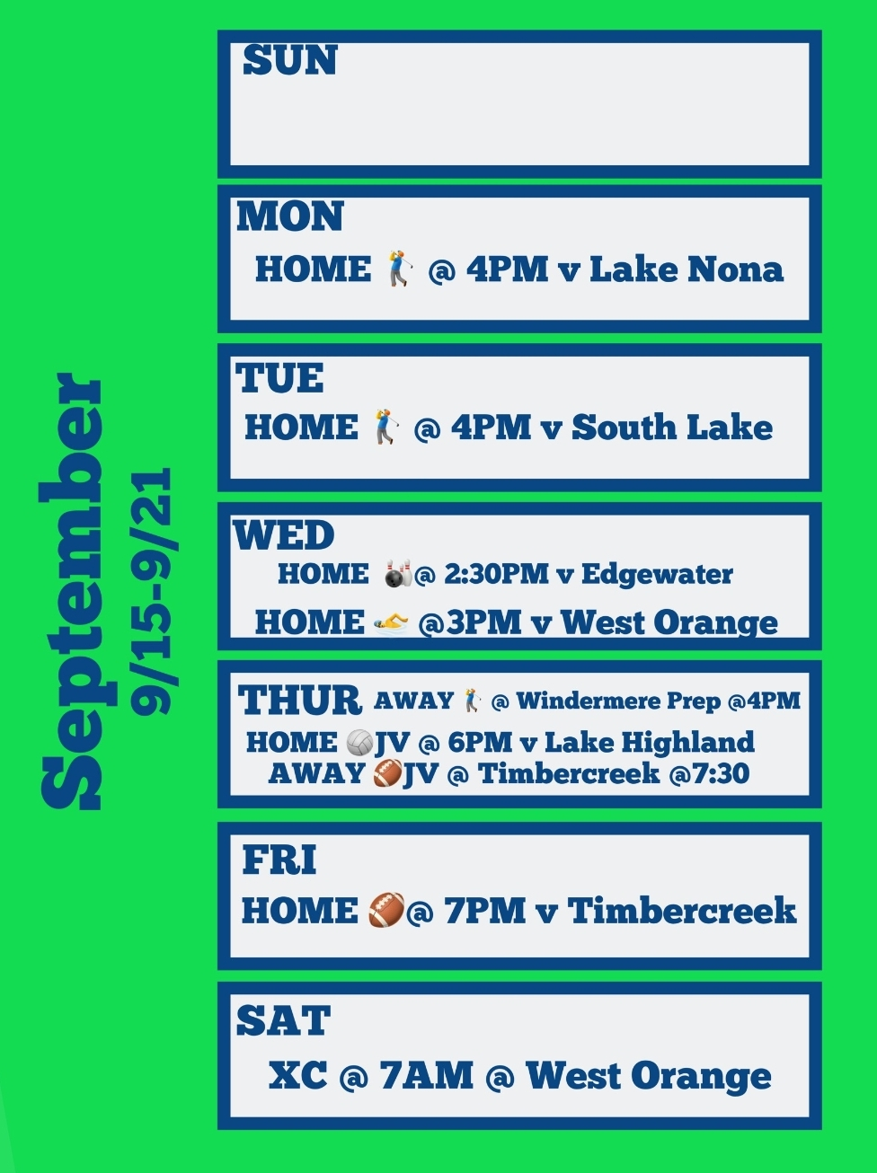 A Glance at the Weekly Wolverines Events