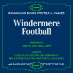 Remaining Home Football Games