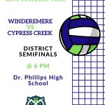 Girls Volleyball District Semifinal Game