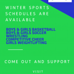 Winter Sports Schedules are Available