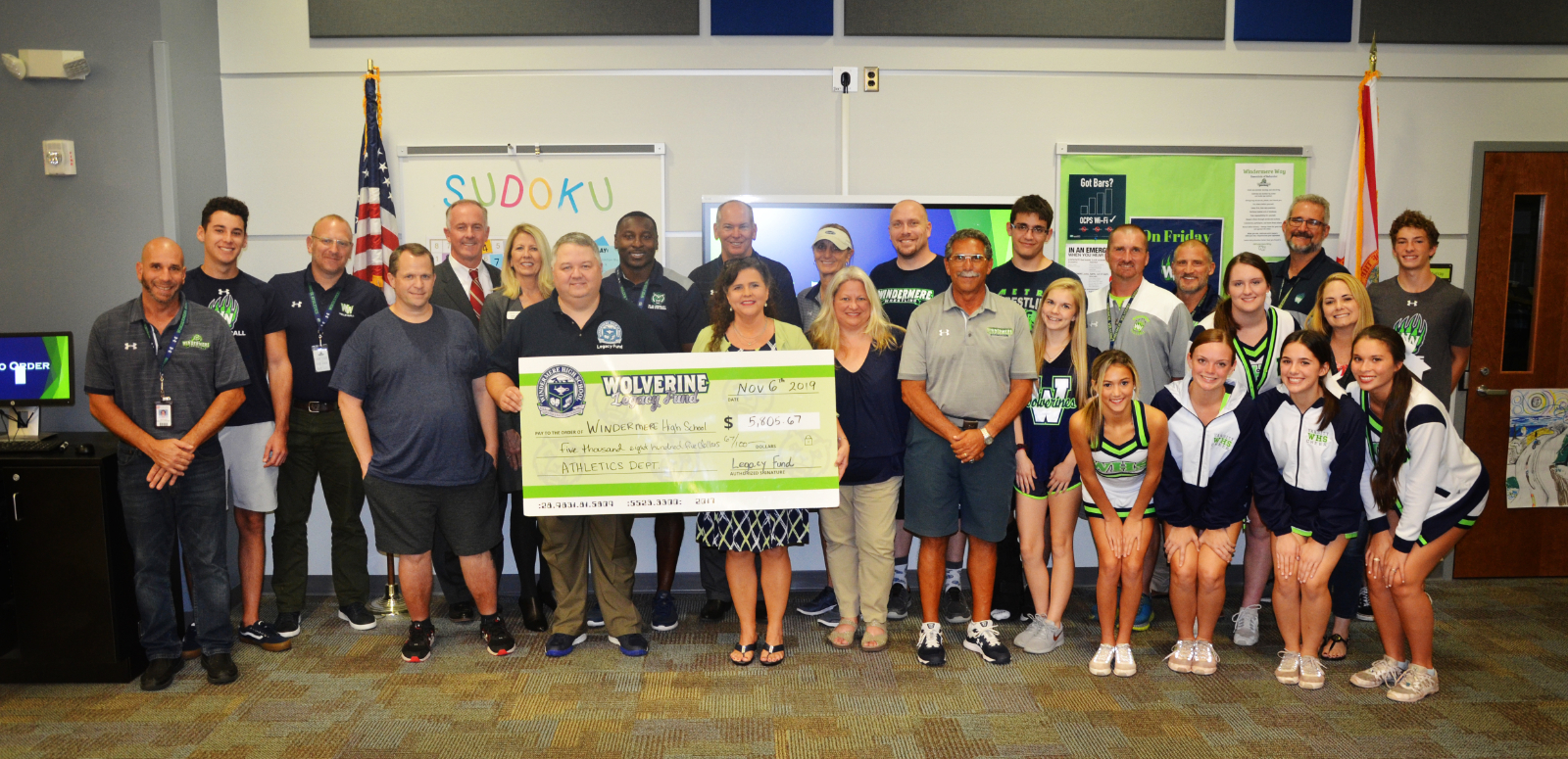 Orlando Health Makes Donation to Athletics