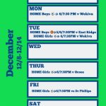 Wolverines Weekly Home Events 12/9- 12/14