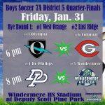 Windermere Hosting Boys & Girls Soccer District Tournament