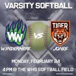 Softball vs Jones