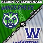 Boys Basketball vs Wharton HS in Regional Semi-finals