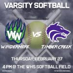 Varsity Softball vs Timber Creek