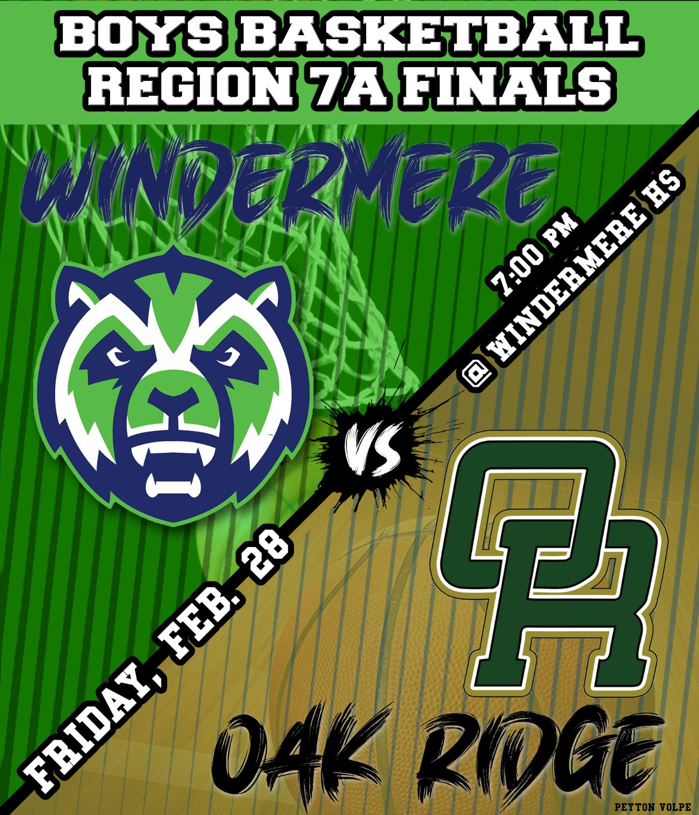 Boys Basketball vs Oak Ridges Regional Finals