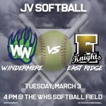 JV Softball vs East Ridge
