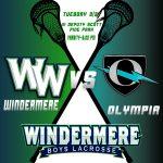 Varsity Boys Lacrosse vs Olympia