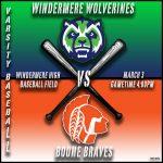 Varsity Baseball vs Boone