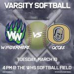 Varsity Softball vs Ocoee