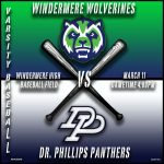 Varsity Baseball vs Dr. Phillips