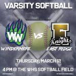 Varsity Softball vs East Ridge
