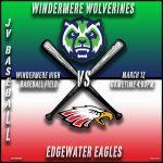 JV Baseball vs Edgewater