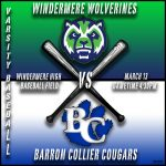Varsity Baseball vs Barron Collier