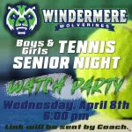 Tennis Senior Night Watch Party