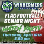Flag Football Senior Night Watch Party